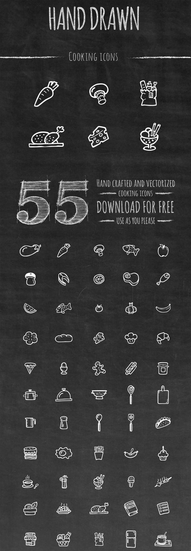 Бесплатный наор иконок для еды