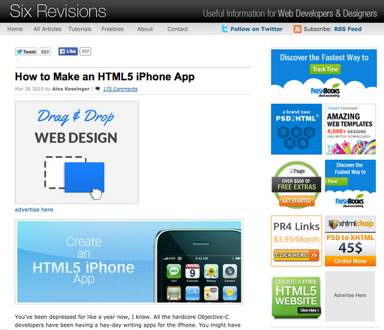 How to Make an HTML5 iPhone App