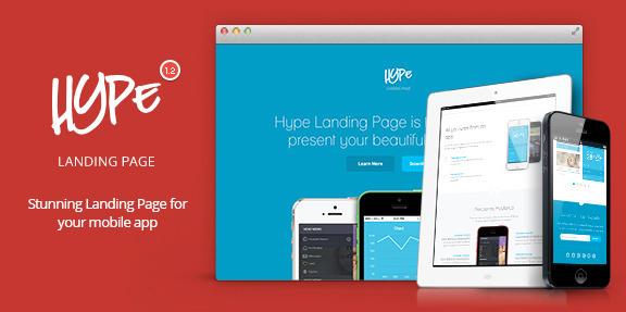 Посадочная страница для мобильного приложения: Hype - App Landing Page