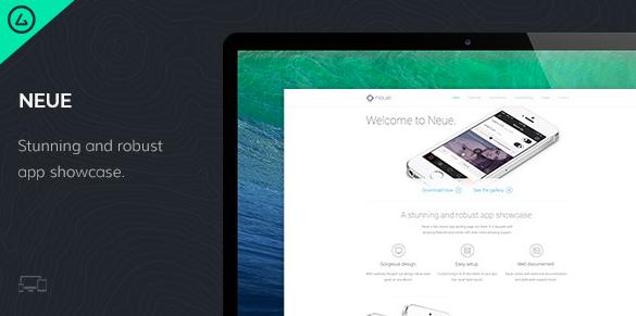 Посадочная страница для приложения: Neue - App Landing Page