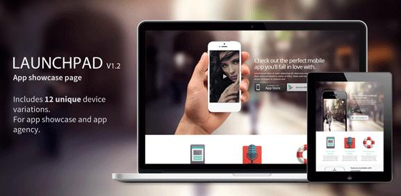 Посадочная страница для приложения: Launchpad - Responsive App Landing Page