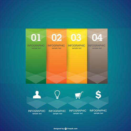 Пример бесплатных элементов для инфографики