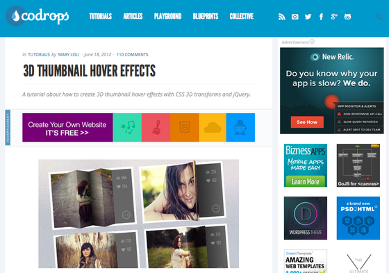 Thumbnail Hover Effects