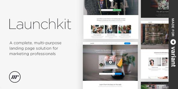 Посадочная страница для приложения: Launchkit Landing Page, Variant Builder